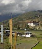 Kungarike av Bhutan - Paro Dzong Royaltyfria Bilder