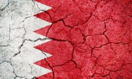 Kungarike av den Bahrain flaggan Royaltyfria Bilder