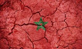 Kungarike av den Marocko flaggan royaltyfria foton