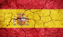 Kungarike av den Spanien flaggan stock illustrationer
