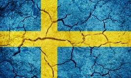 Kungarike av den Sverige flaggan royaltyfri fotografi