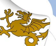 Kungarike av den Wessex flaggan royaltyfri illustrationer