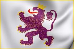 Kungarike av Leon Flag stock illustrationer