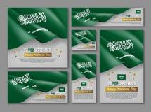 Kungarike av uppsättningen Saudiarabien för nationell dag royaltyfri illustrationer