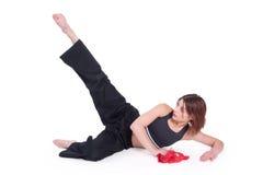 kungfu κοριτσιών Στοκ Εικόνα