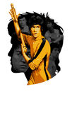 KungFu Bruce Lee Fotografia de Stock Royalty Free