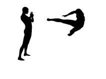 Kungfu die (aanval) bestrijdt 3 Stock Afbeeldingen