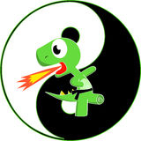 KungFu Dino. Dino received a black belt in karate Royalty Free Stock Images