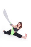Kungfu Girl Royalty Free Stock Photos