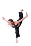 Kungfu Mädchen Stockfoto