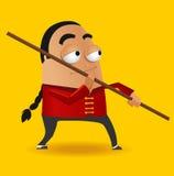 Kungfu Master. Red Kungfu Master. Vector illustration Royalty Free Stock Images