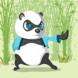 Kungfu Panda Cute Character Design Vector stock de ilustración