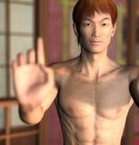 Kungfu Practitioner Stock Image