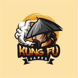 Kungfu vape logo design  illustration vector illustration