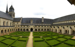 Kunglig abbotskloster av Fontevraud Royaltyfria Foton