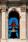 Kunglig basilika för Estrela basilika och kloster av den mest sakrala hjärtan av Jesus Bell Tower In Lisbon Arkivfoto