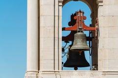 Kunglig basilika för Estrela basilika och kloster av den mest sakrala hjärtan av Jesus Bell Tower In Lisbon Royaltyfria Foton
