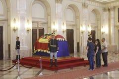 Kunglig begravning av drottningen Anne av Rumänien Royaltyfria Bilder