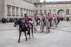 Kunglig beröm för nytt år i Köpenhamnen, Danmark royaltyfria bilder