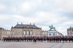 Kunglig beröm för nytt år i Köpenhamnen, Danmark royaltyfri bild