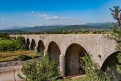 Kunglig bro Carev mest över zetaen i Montenegro royaltyfria bilder