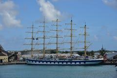 Kunglig Clipper liggande Bridgetown Barbados Arkivfoto
