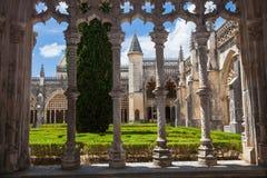Kunglig cloister av den Batalha kloster royaltyfri foto