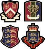 Kunglig emblememblemsköld Arkivbild