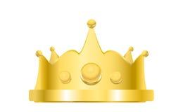 Kunglig guld- kronavetor Royaltyfri Illustrationer