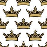 Kunglig heraldisk sömlös modell Fotografering för Bildbyråer