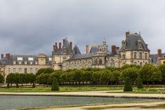 Kunglig jaktslott Fontainebleau, Frankrike Arkivfoton