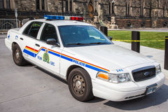 Kunglig kanadensare monterad polisiär polisbil Arkivfoto