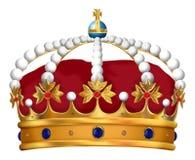 Kunglig krona royaltyfri illustrationer