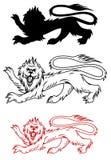 Kunglig lion Arkivfoton