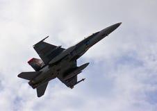 Kunglig Malaysia arméstyrka F18-Hornet Fotografering för Bildbyråer