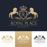 Kunglig mall för ställehotelllogo Fotografering för Bildbyråer