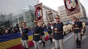 Kunglig marsch av konungmihaibegravningen stock video