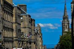 Kunglig mil, Edinburg, Skottland Arkivbild