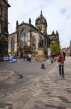Kunglig mil i Edinburg, Skottland Royaltyfri Fotografi