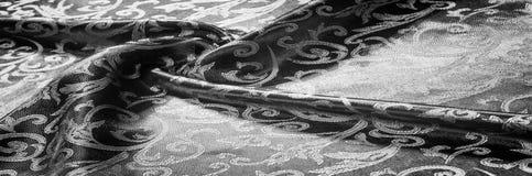 kunglig monogram för siden- torkduk svart white Guld och lyx är Royaltyfria Foton
