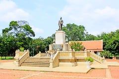 Kunglig monument av konungen Rama 1, Ayutthaya, Thailand Royaltyfria Bilder