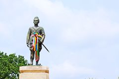 Kunglig monument av konungen Rama 1, Ayutthaya, Thailand Fotografering för Bildbyråer