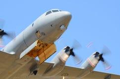 Kunglig nyazeeländsk flygvapenLockheed P-3 Orion nivå royaltyfri fotografi