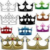 kunglig person för krona D Arkivfoto