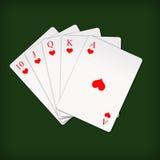kunglig person för poker för kortspolninglek Royaltyfri Foto