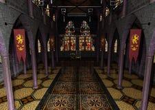 kunglig person Hall för tolkning 3D Arkivbild