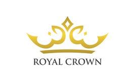 Kunglig person och lyxigt kronasymbol Arkivbilder