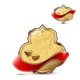 Kunglig personbruntetiketter Royaltyfri Foto