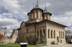 Kunglig personkyrka i Targoviste, Rumänien arkivbild
