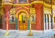 Kunglig personportarna i kyrka Arkivfoto